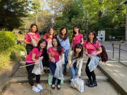 ワールドビューティーページェントで東京港区の公園の清掃活動を実施